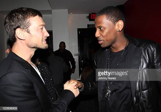 Actor Andy Whitfield and rapper Fabolous attend a toast celebrating Fabolous' Grammy nomination on January 30 2010 in Los Angeles California