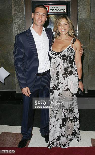 Actor Andy Whitfield and wife Vashty Whitfield attend the Australian Premiere of 'Gabriel' at the Hoyts Entertainment Quarter on November 7 2007 in...
