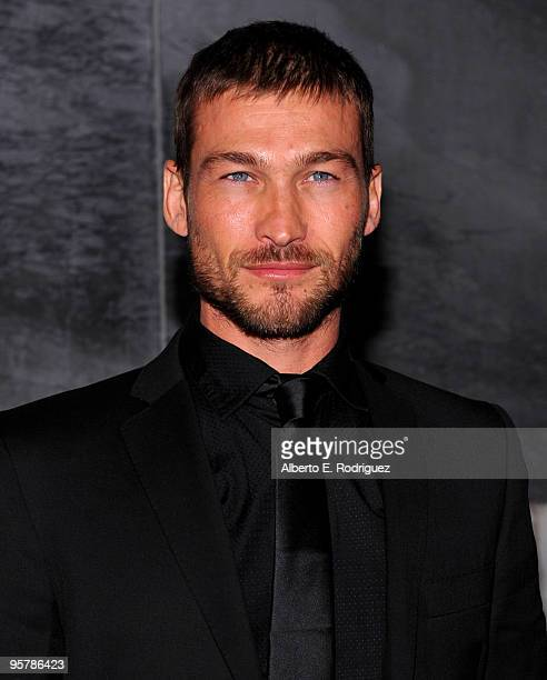 Actor Andy Whitfield arrives at the Starz original TV series 'Spartacus Blood and Sand' on January 14 2010 in Los Angeles California