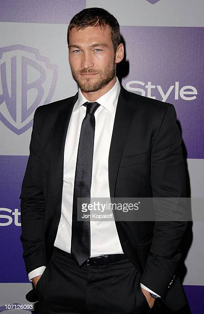 Actor Andy Whitfield arrives at the Warner Brothers/InStyle Golden Globes After Party at The Beverly Hilton Hotel on January 17 2010 in Beverly Hills...