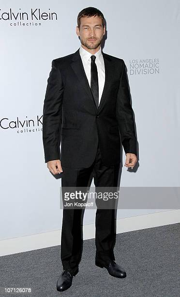 Actor Andy Whitfield arrives to Calvin Klein Men's And Women's Spring 2010 Collections Preview Benefit on January 28 2010 in Los Angeles California