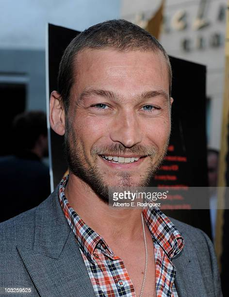 Actor Andy Whitfield arrives to the premiere of Paramount Pictures' Middle Men at the ArcLight Theaters on August 5 2010 in Los Angeles California