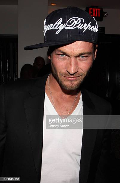 Actor Andy Whitfield attends a celebration for Grammy nominated artist Fabolous on January 30 2010 in Los Angeles California