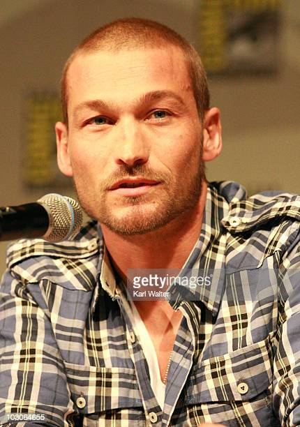 Actor Andy Whitfield attends Starz Entertainment's Spartacus Panel during ComicCon 2010 at San Diego Convention Center on July 23 2010 in San Diego...