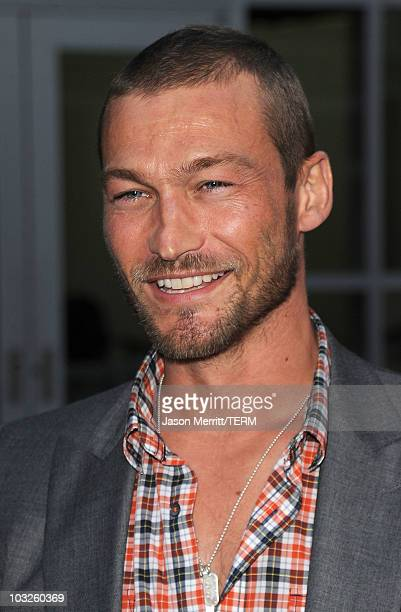 Actor Andy Whitfield attends the Los Angeles premiere of 'Middle Men' held at ArcLight Cinemas on August 5 2010 in Hollywood California