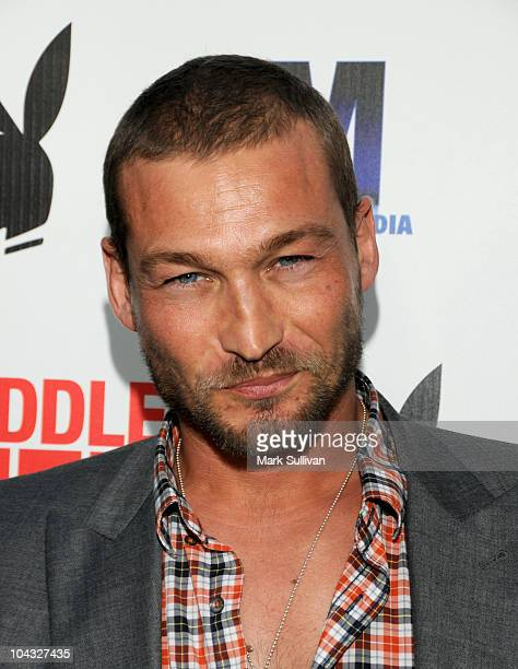 Actor Andy Whitfield attends the Los Angeles premiere of Middle Men at ArcLight Cinemas on August 5 2010 in Hollywood California