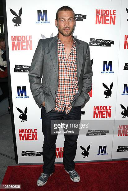 Actor Andy Whitfield attends the premiere of Middle Men at ArcLight Hollywood on August 5 2010 in Hollywood California