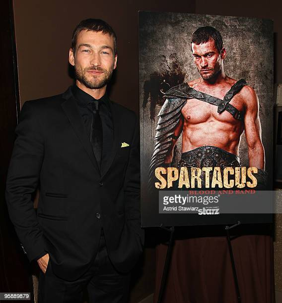 Actor Andy Whitfield attends the premiere of Spartacus Blood and Sand at the Tribeca Grand Screening Room on January 19 2010 in New York City