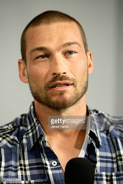 Actor Andy Whitfield in the MySpace MTV Tower During ComicCon 2010 Day 2 on July 23 2010 in San Diego California