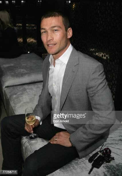 Actor Andy Whitfield poses following the announcement of the nominees for the 2007 Inside Film Awards at the Water Bar Woolloomooloo on October 10...