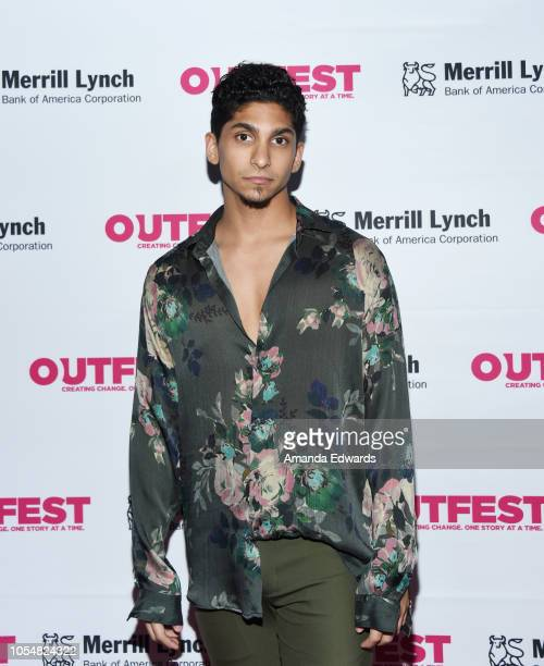 Actor Angel Bismark Curiel arrives at the 13th Annual Outfest Legacy Awards at Vibiana on October 28 2018 in Los Angeles California