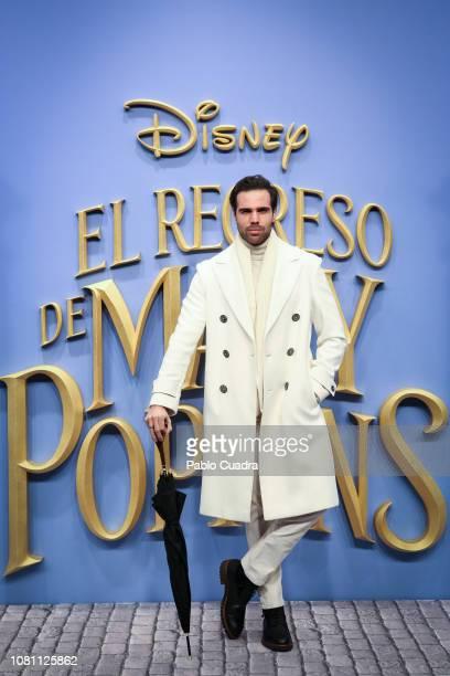 Actor Angel Caballero attends 'El Regreso de Mary Poppins' premiere at Kinelpolis cinema on December 11 2018 in Madrid Spain