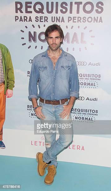 Actor Angel Caballero attends 'Requisitos para ser una persona normal' premiere at Palafox cinema on June 3 2015 in Madrid Spain