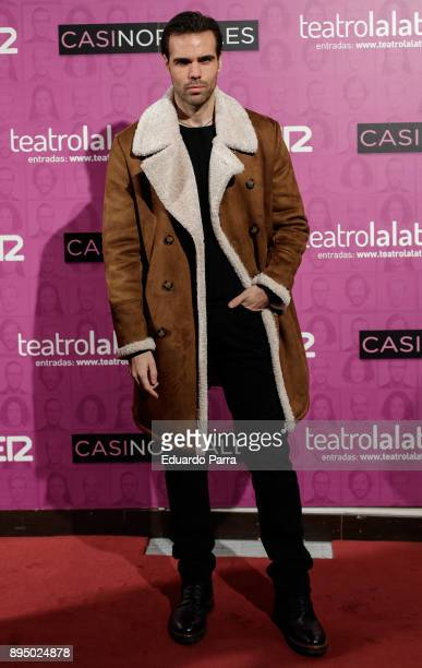 Actor Angel Caballero attends the 'Casi normales' premiere at La Latina theatre on December 18 2017 in Madrid Spain