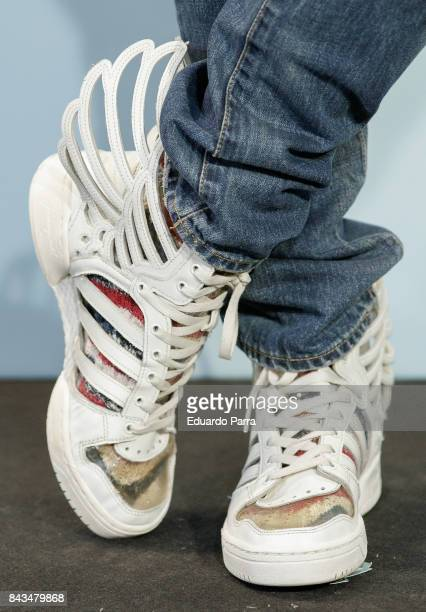 Actor Angel Caballero sneakers detail attends the 'Kenzo summer party' photocall at Royal Theatre on September 6 2017 in Madrid Spain