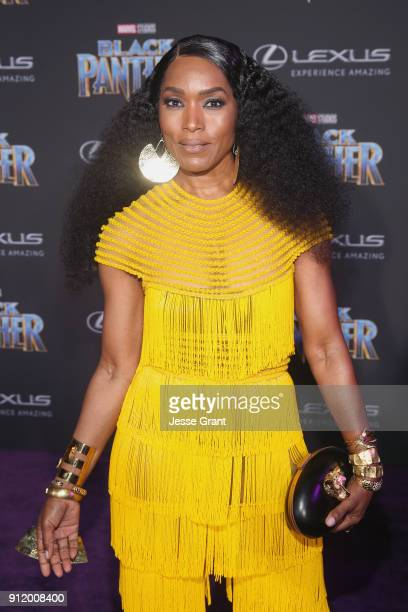 Actor Angela Bassett at the Los Angeles World Premiere of Marvel Studios' BLACK PANTHER at Dolby Theatre on January 29 2018 in Hollywood California