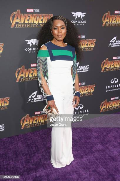 Actor Angela Bassett attends the Los Angeles Global Premiere for Marvel Studios' Avengers Infinity War on April 23 2018 in Hollywood California