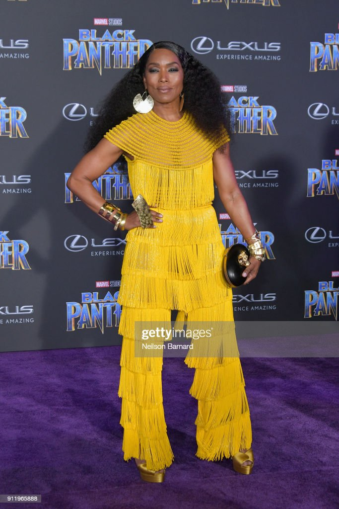 Actor Angela Bassett Attends The Premiere Of Disney And Marvels Black Panther At Dolby
