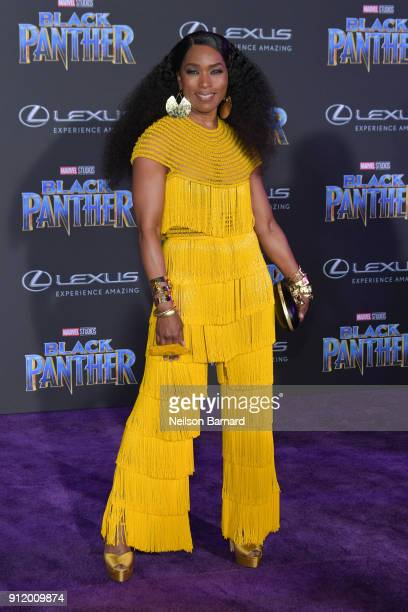 Actor Angela Bassett attends the premiere of Disney and Marvel's 'Black Panther' at Dolby Theatre on January 29 2018 in Hollywood California