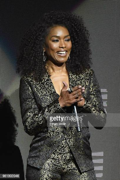 Actor Angela Bassett speaks onstage during the CinemaCon 2018 Paramount Pictures Presentation Highlighting Its Summer of 2018 and Beyond at The...