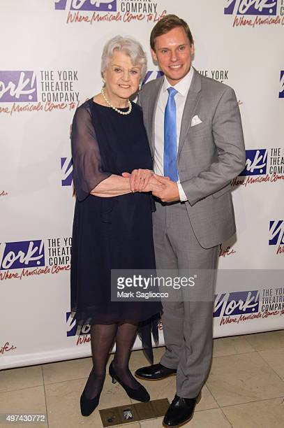 Actor Angela Lansbury and Tom Rhoads attend the 24th Annual Oscar Hammerstein Award Gala at Gustavino's on November 16 2015 in New York City