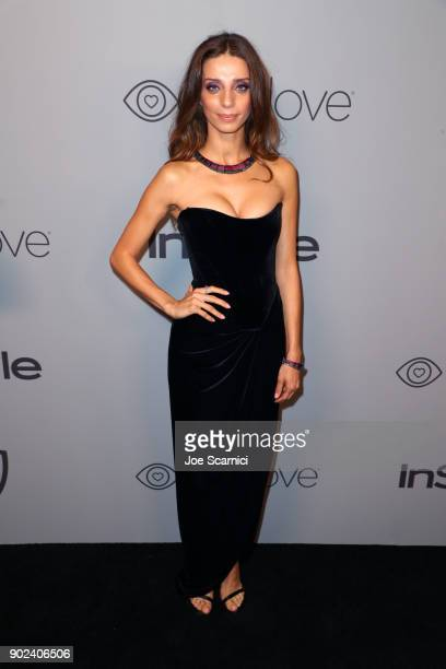 Actor Angela Sarafyan attends the 2018 InStyle and Warner Bros 75th Annual Golden Globe Awards PostParty at The Beverly Hilton Hotel on January 7...