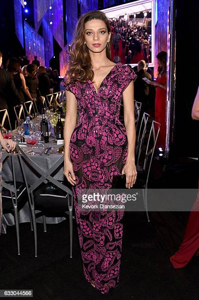 Actor Angela Sarafyan attends the 23rd Annual Screen Actors Guild Awards Cocktail Reception at The Shrine Expo Hall on January 29 2017 in Los Angeles...