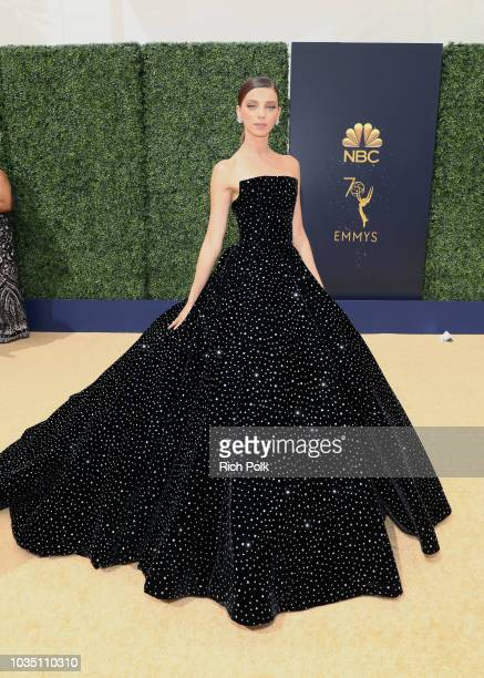 Actor Angela Sarafyan attends the 70th Annual Primetime Emmy Awards at Microsoft Theater on September 17 2018 in Los Angeles California
