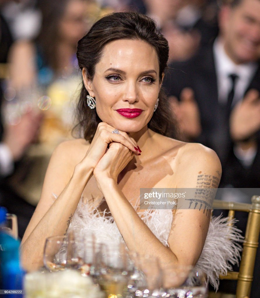 Actor Angelina Jolie attends The 23rd Annual Critics' Choice Awards at Barker Hangar on January 11, 2018 in Santa Monica, California.