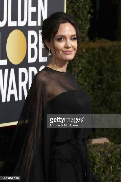 Actor Angelina Jolie attends The 75th Annual Golden Globe Awards at The Beverly Hilton Hotel on January 7 2018 in Beverly Hills California