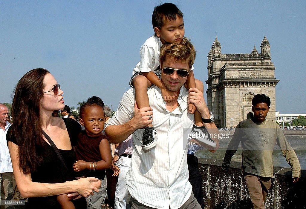 INDIA-HOLLYWOOD-JOLIE-PITT : News Photo