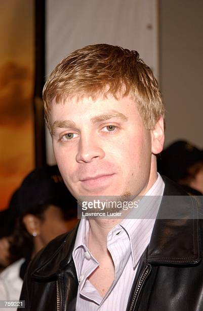 Actor Angelo Spizzirri arrives at the premiere of the film The Rookie March 26 2002 in New York City