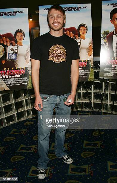 Actor Angelo Spizzirri attends the New York premiere of 'Underclassman' at Clearview Chelsea West August 23 2005 in New York City