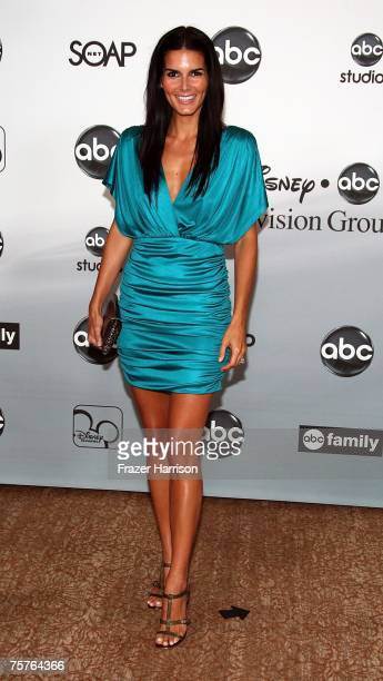 Actor Angie Harmon attends the 2007 ABC All Star Party held at the Beverly Hilton Hotel on July 26 2007 in Beverly Hills California