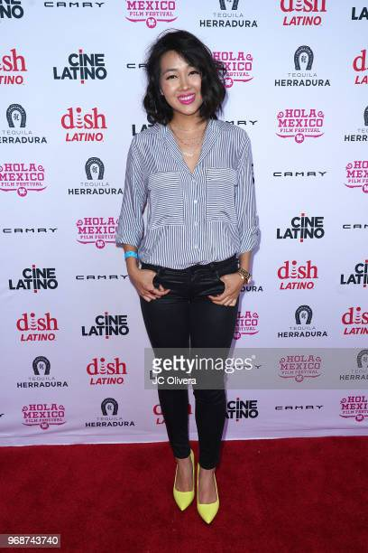 Actor Angie Kim attends The HOLA Mexico Film Festival presented by DishLATINO 'America I Too' and 'Eres Mi Pasion' Premieres at Cinepolis Pico Rivera...