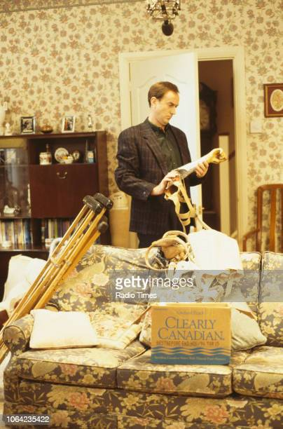 Actor Angus Deayton in a scene from the Christmas special episode 'Starbound' of the BBC Television sitcom 'One Foot in the Grave' 1996