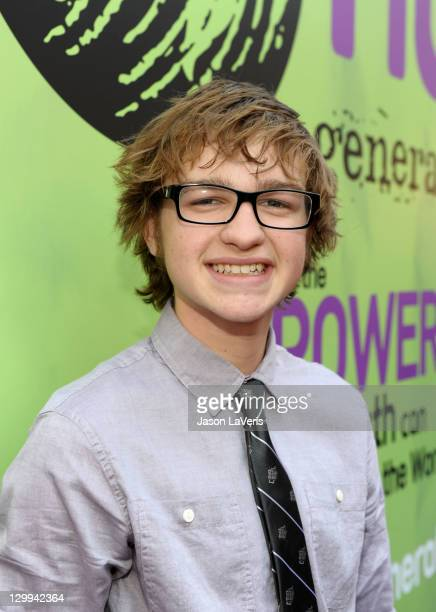 Actor Angus T Jones at the Hub booth during Variety's 5th annual Power Of Youth event presented by The Hub at Paramount Studios on October 22 2011 in...