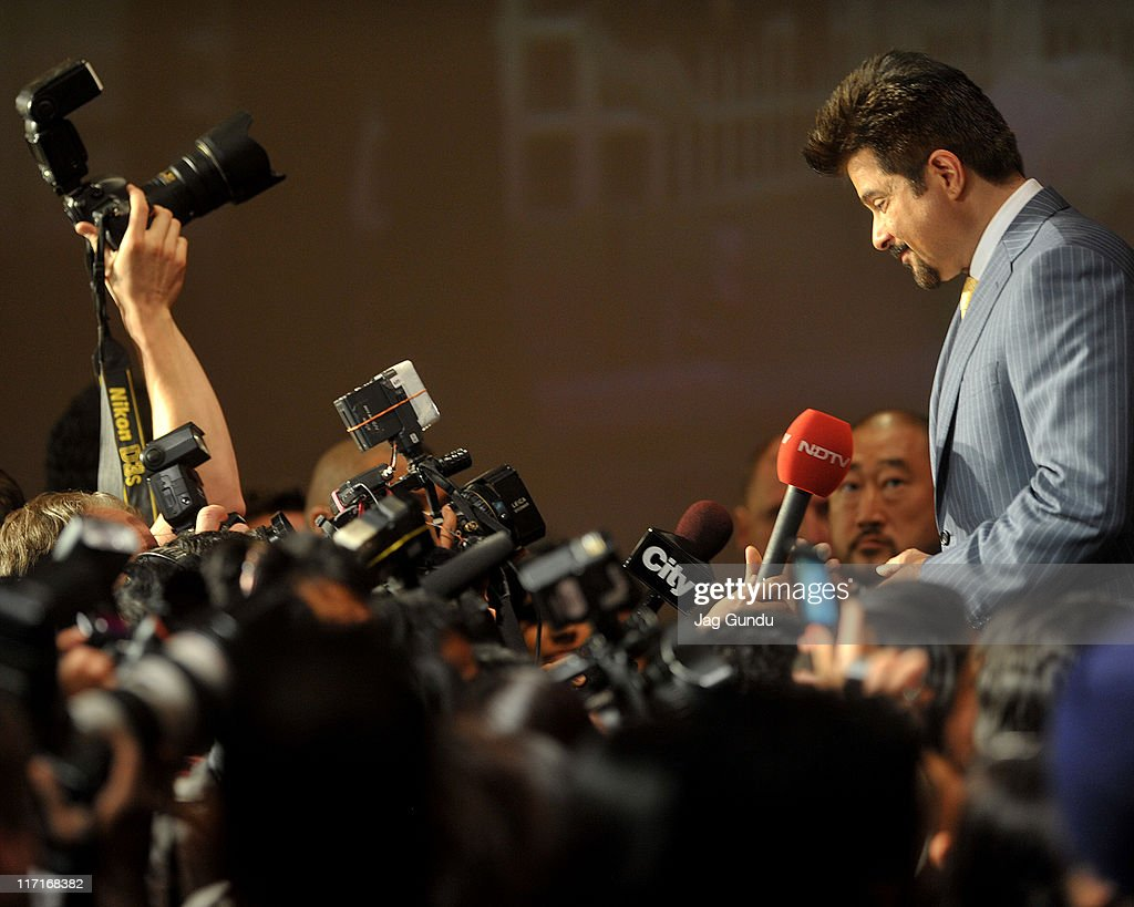 Actor Anil Kapoor at the official launch of the 2011 IIFA press conference held at the Royal York Hotel on June 23, 2011 in Toronto, Canada.