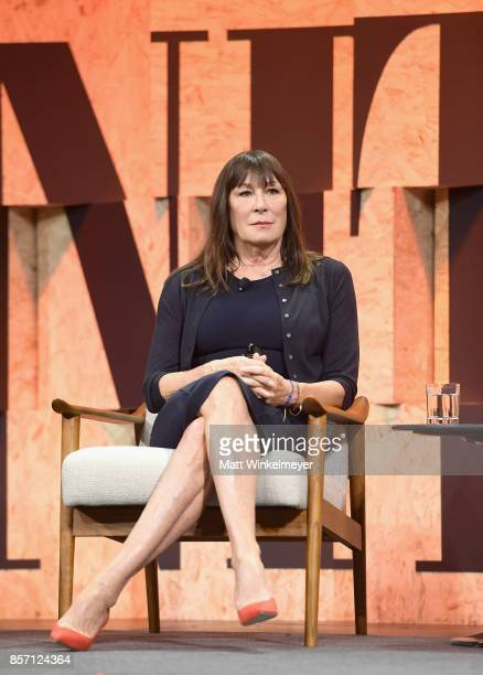 Actor Anjelica Huston speaks onstage during Vanity Fair New Establishment Summit at Wallis Annenberg Center for the Performing Arts on October 3 2017...