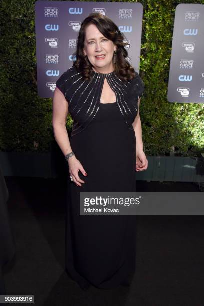 Actor Ann Dowd attends Moet Chandon celebrate The 23rd Annual Critics' Choice Awards at Barker Hangar on January 11 2018 in Santa Monica California