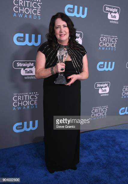 Actor Ann Dowd poses with the award for Best Supporting Actress in a Drama Series for 'The Handmaid's Tale' in the press room during The 23rd Annual...