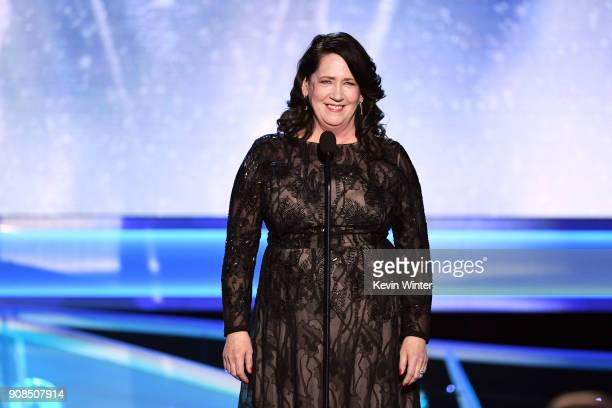 Actor Ann Dowd speaks onstage during the 24th Annual Screen Actors Guild Awards at The Shrine Auditorium on January 21 2018 in Los Angeles California...