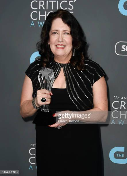 Actor Ann Dowd winner of Best Supporting Actress in a Drama Series for 'The Handmaid's Tale' poses in the press room during The 23rd Annual Critics'...