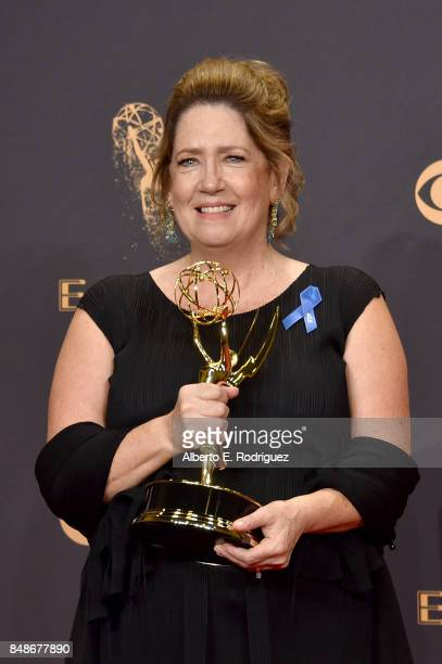Actor Ann Dowd winner of the award for Outstanding Supporting Actress in a Drama Series award for 'The Handmaid's Tale' poses in the press room...