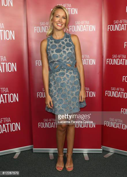 Actor Anna Camp at SAGAFTRA Foundation's Conversations With 'Brave New Jersey' at SAGAFTRA Foundation Screening Room on July 10 2017 in Los Angeles...