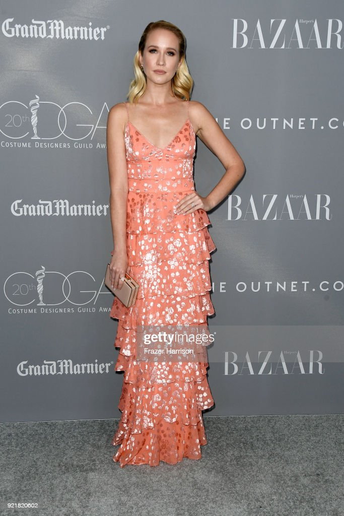 Actor Anna Camp attends the Costume Designers Guild Awards at The Beverly Hilton Hotel on February 20, 2018 in Beverly Hills, California.