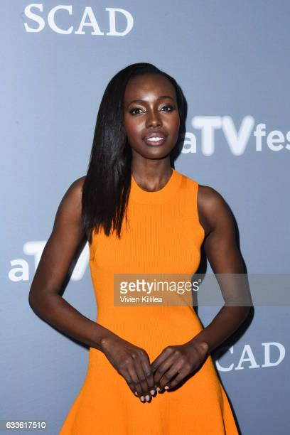 "Actor Anna Diop attend a press junket for ""24 Legacy"" during Day One of the aTVfest 2017 presented by SCAD on February 2 2017 in Atlanta Georgia"