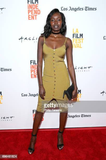 Actor Anna Diop attends the screening of 'The Keeping Hours' during the 2017 Los Angeles Film Festival at Arclight Cinemas Culver City on June 15...