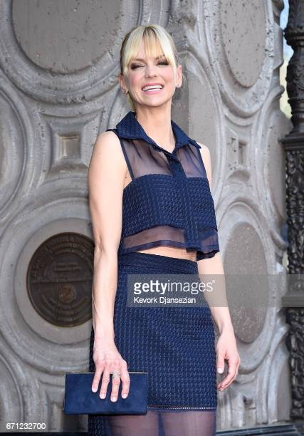 Actor Anna Faris at Chris Pratt Honored With Star On The Hollywood Walk Of Fame on April 21 2017 in Hollywood California