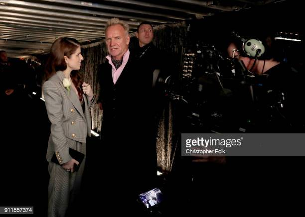 Actor Anna Kendrick and recording artist Sting attend the 60th Annual GRAMMY Awards at Madison Square Garden on January 28 2018 in New York City